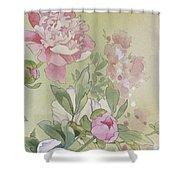 Syakuyaku Crop II Shower Curtain
