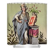 Sybil Of Cumae, No. 16 From Antique Shower Curtain