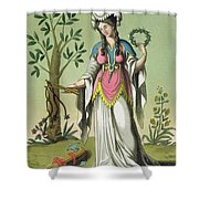Sybil Of Delphi, No. 15 From Antique Shower Curtain