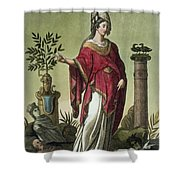 Sybil Of Eritrea With Her Insignia, 1796 Shower Curtain