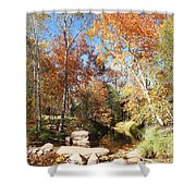 Sycamore And Cottonwood Trees Along The East Verde River Shower Curtain