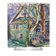 Sycamore Tree Shower Curtain
