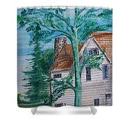 Sycamore Tree Lllustration Shower Curtain