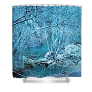 Sycamores And River Shower Curtain