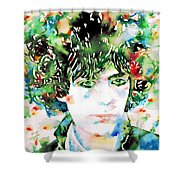 Syd Barrett Watercolor Portrait.1 Shower Curtain