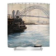 Sydney Ferry Wharves 1950's Shower Curtain