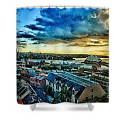Sydney Harbor Sunrise Shower Curtain