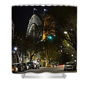 Sydney Harbour Bridge From Fort Street Shower Curtain