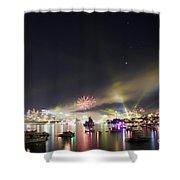 Sydney Navy Fleet Fireworks Shower Curtain