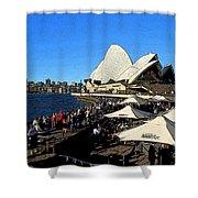 Sydney Opera House Bar Shower Curtain