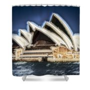 Sydney Opera House V11 Shower Curtain