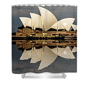 Sydney Opera House With Clouds Shower Curtain