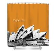 Sydney Skyline 3  Opera House - Dark Orange Shower Curtain