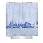 Sydney Skyline Blueprint Shower Curtain