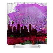 Sydney Watercolor Skyline 2 Shower Curtain