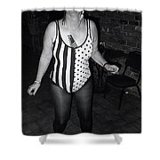 Sylver Short In Costume Celebrating Halloween Tucson Arizona 1990 Shower Curtain