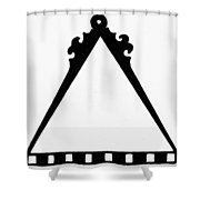 Symbol Cartography Shower Curtain