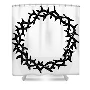 Symbol Crown Of Thorns Shower Curtain