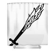 Symbol Flaming Sword Shower Curtain