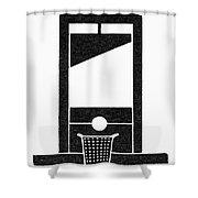 Symbol Guillotine Shower Curtain