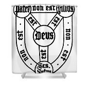 Symbol Holy Trinity Shower Curtain