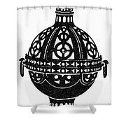 Symbol Incense Burner Shower Curtain