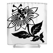Symbol Passion Flower Shower Curtain
