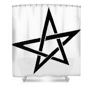 Symbol Pentacle Shower Curtain