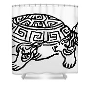 Symbol Tortoise Shower Curtain