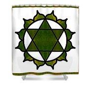 Symbolic Serenity Abstract Chakra Art By Omaste Witkowski  Shower Curtain