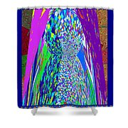 Symbolic Stone Male Linga Installation Graphic Digital Artist Navinjoshi Philosophy  Shivalinga Shiv Shower Curtain