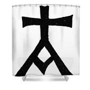Symbols Chrisma Shower Curtain