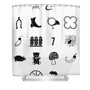 Symbols Good Luck Shower Curtain