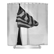 Symbols In Black And White Shower Curtain