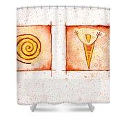 Symbols In Stone Shower Curtain