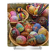 Symbols Of Easter- Spiritual And Secular Shower Curtain