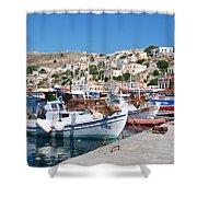 Symi Island Greece Shower Curtain