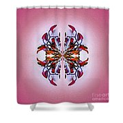 Symmetrical Orchid Art - Reds Shower Curtain