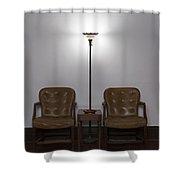 Symmetrical Waiting Room Shower Curtain