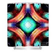Symmetry Of Colors Shower Curtain