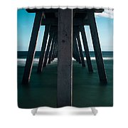Symmetry Under The Pier  Shower Curtain