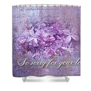 Sympathy Greeting Card - Lilacs Shower Curtain