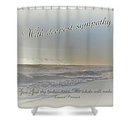 Sympathy Greeting Card - Ocean After Storm Shower Curtain