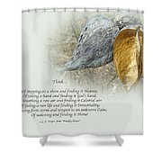 Sympathy Greeting Card - Poem And Milkweed Pods Shower Curtain