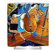 Symphonie De Cobalt Shower Curtain