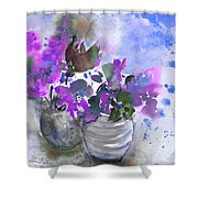 Symphony In Blue And Purple Shower Curtain