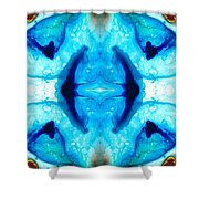 Synchronicity - Colorful Abstract Art By Sharon Cummings Shower Curtain