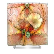 Syncopated Summer Passion Shower Curtain