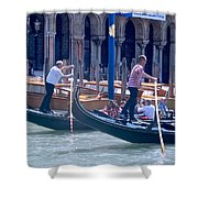Syncronized Gondoliers Shower Curtain