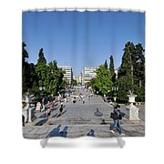 Syntagma Square In Athens Shower Curtain